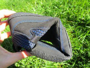 Flexible Sohle eines Barfußschuhs der Marke Sole Runner