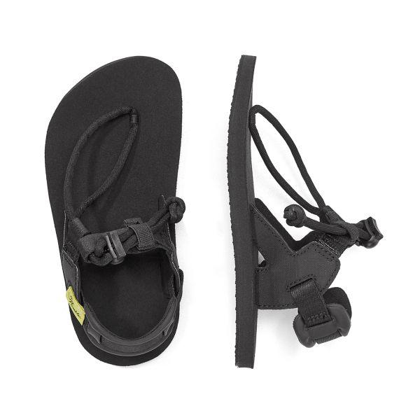 Vegane Barfuß-Sandalen für Kinder in schwarz