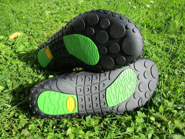 Laufsohlen der nimbleToes mit schönem Profil