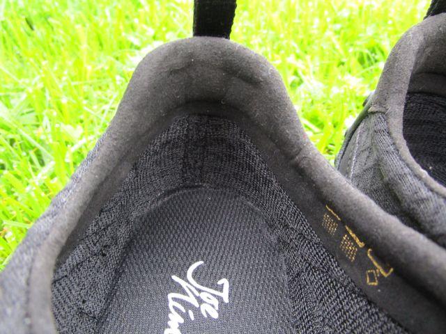 nimbleToes von innen, Fersenbereich mit Schaft