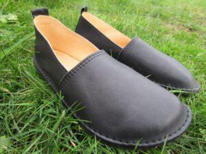 Schwarze Damen-Mokassins Fuego aus Leder