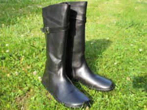 Barfuß-Stiefel von ZAQQ für Damen aus Leder