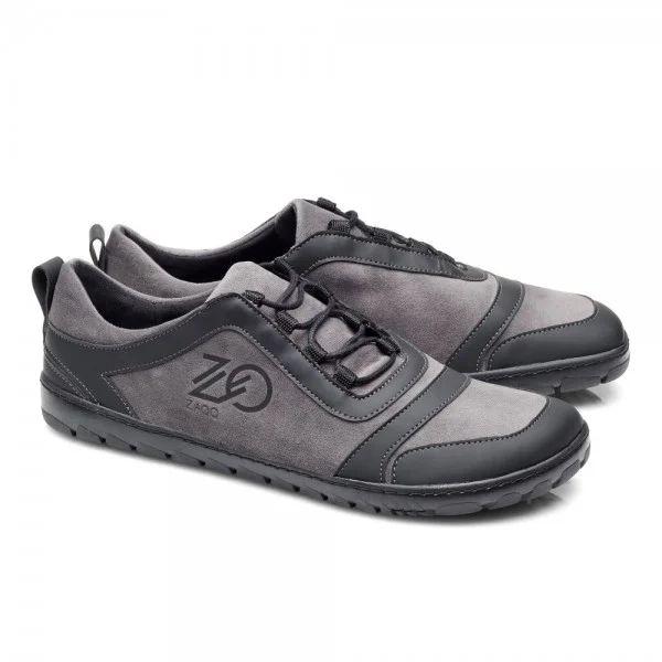 veganer Barfuß-Sneaker/Laufschuh in grau