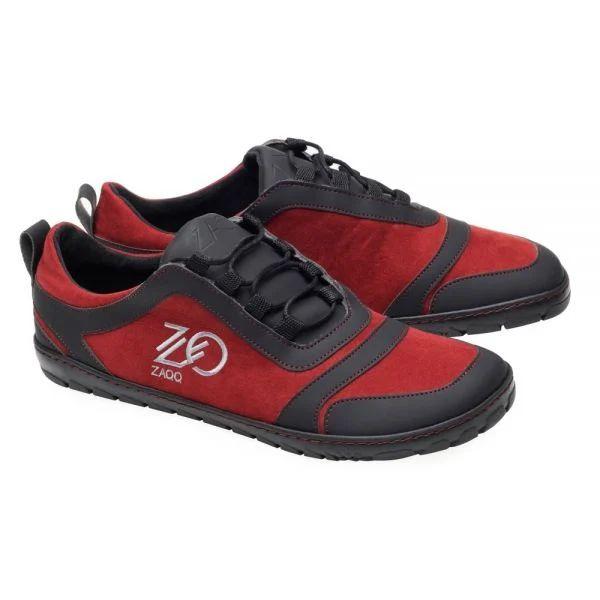 veganer Sneaker in rot und schwarz von ZAQQ