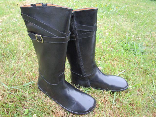 Damen-Stiefel, Barfußschuhe aus Leder